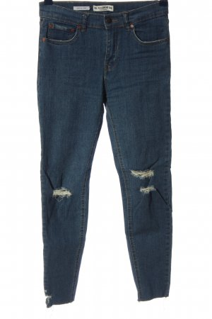 Pull & Bear Stretch jeans blauw casual uitstraling