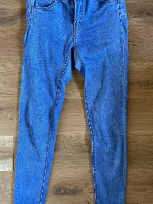 Pull & Bear Jeans a sigaretta blu acciaio-blu fiordaliso