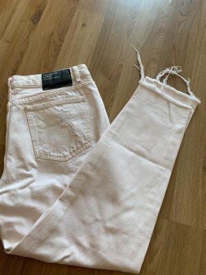 Pull & Bear Pantalone a vita bassa rosa pallido-rosa antico