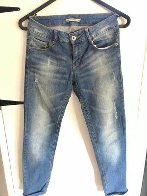 Pull & Bear Slim Jeans multicolored cotton