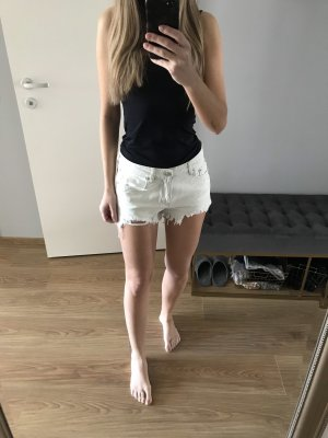Pull & Bear Jeans Shorts hellblau/Weiß 26