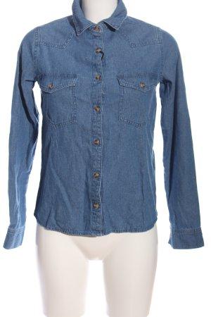 Pull & Bear Jeanshemd blau Casual-Look