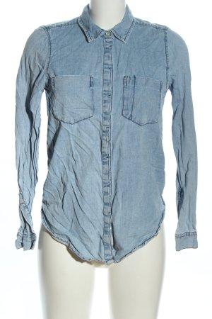 Pull & Bear Camicia denim blu stile casual