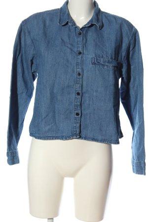 Pull & Bear Chemise en jean bleu style décontracté