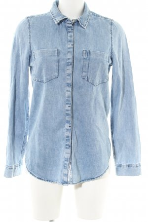 Pull & Bear Denim Shirt blue casual look