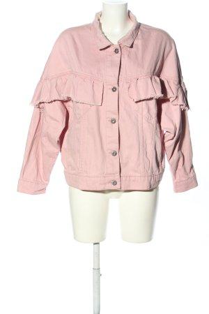 Pull & Bear Denim Jacket pink casual look
