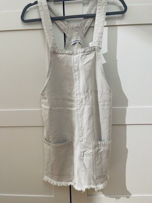 Pull & Bear Robe en jean blanc cassé-crème