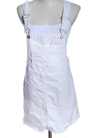 Pull & Bear Vestido vaquero blanco look casual