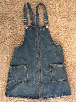 Pull & Bear Robe en jean bleu foncé
