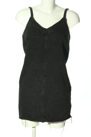 Pull & Bear Robe en jean noir style décontracté