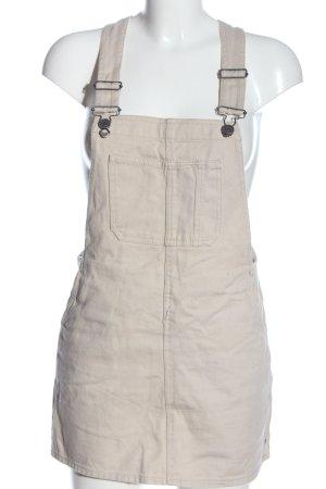 Pull & Bear Jeanskleid wollweiß Casual-Look