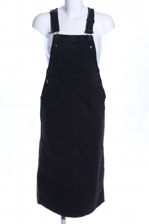 Pull & Bear Vestido vaquero negro look casual