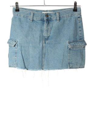 Pull & Bear Spijkerrok blauw casual uitstraling