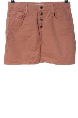 Pull & Bear Jeansrock bronzefarben Casual-Look