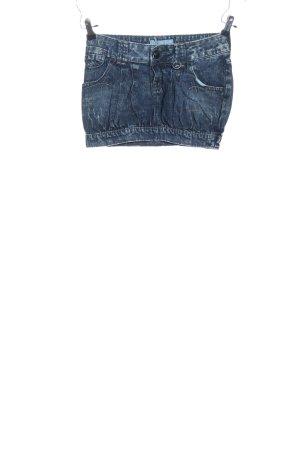 Pull & Bear Gonna di jeans blu stile casual