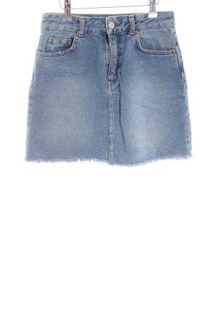 Pull & Bear Jeansrock blau Casual-Look