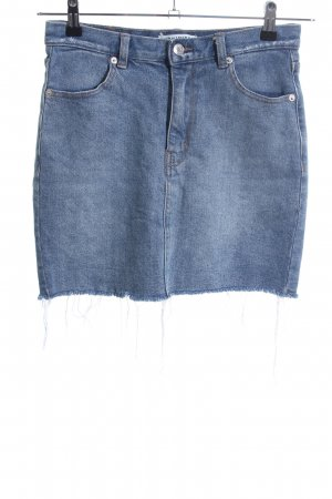 Pull & Bear Gonna di jeans blu Tessuto misto