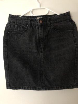 Pull & Bear Jupe en jeans noir