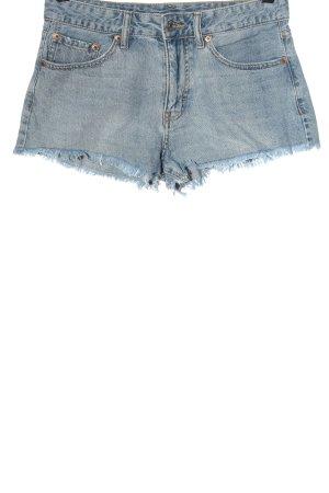 Pull & Bear Pantaloncino di jeans blu stile casual
