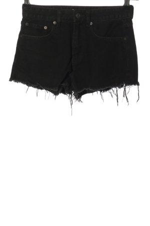 Pull & Bear Jeansshorts schwarz Casual-Look