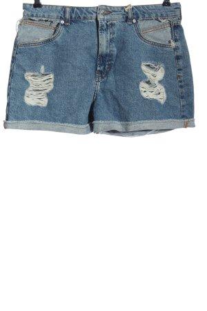 Pull & Bear Jeansowe szorty niebieski W stylu casual