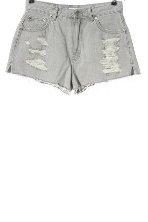 Pull & Bear Jeansowe szorty jasnoszary W stylu casual