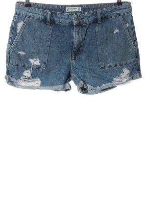 Pull & Bear Short en jean bleu style décontracté