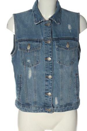 Pull & Bear Denim Vest blue elegant