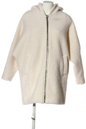 Pull & Bear Cappotto con cappuccio crema stile casual