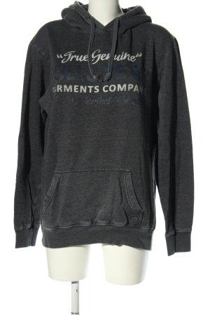 Pull & Bear Hooded Sweatshirt flecked casual look