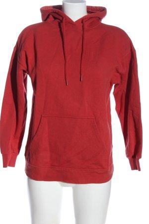 Pull & Bear Kapuzensweatshirt rot Casual-Look