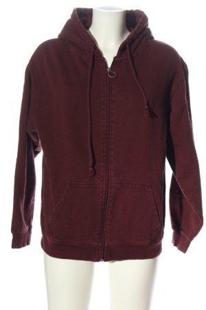 Pull & Bear Sudadera con capucha rojo look casual