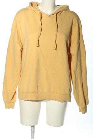 Pull & Bear Sweat à capuche jaune primevère style décontracté