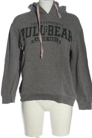 Pull & Bear Bluza z kapturem jasnoszary-czarny Melanżowy W stylu casual