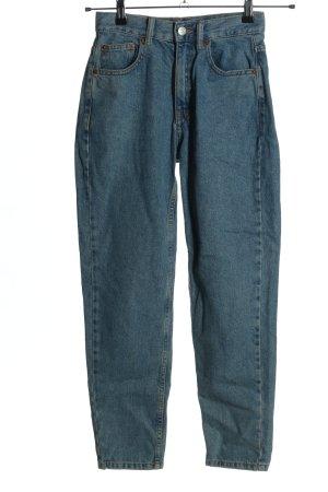Pull & Bear Karottenjeans blau Casual-Look