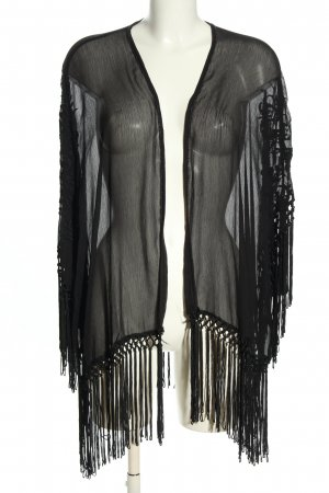 Pull & Bear Kimono noir style décontracté