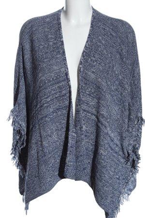 Pull & Bear Kimono Pullover blau Casual-Look