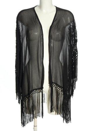 Pull & Bear Kimono schwarz Casual-Look