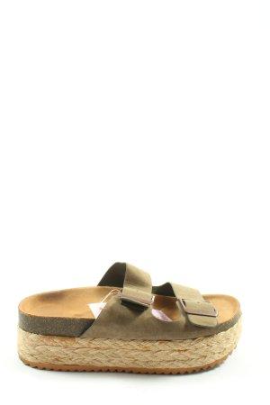Pull & Bear Riemchen-Sandaletten creme-khaki Casual-Look
