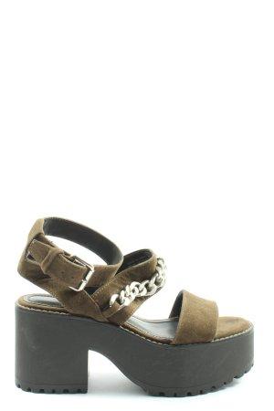 Pull & Bear Komfort-Sandalen khaki Casual-Look