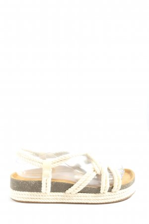 Pull & Bear Sandalo comodo bianco-grigio chiaro stile casual