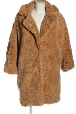 Pull & Bear Płaszcz ze sztucznym futrem jasny pomarańczowy Elegancki