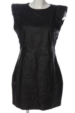 Pull & Bear Kunstlederkleid schwarz Elegant