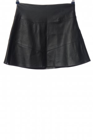 Pull & Bear Faux Leather Skirt black casual look