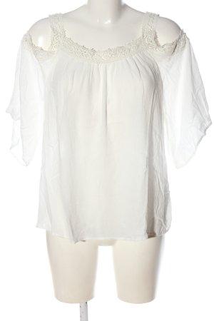 Pull & Bear Camicetta a maniche corte bianco sporco stile casual