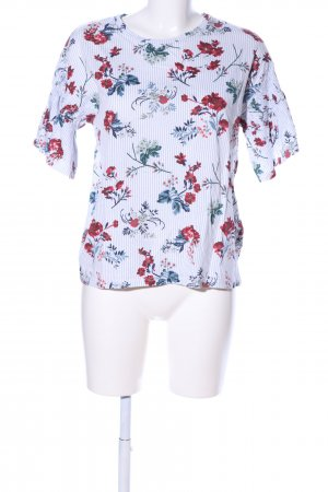 Pull & Bear Kurzarm-Bluse Allover-Druck Business-Look