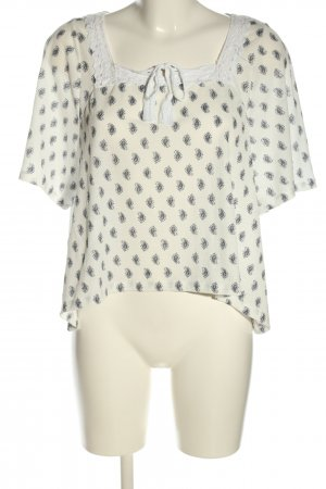 Pull & Bear Kurzarm-Bluse Allover-Druck Casual-Look