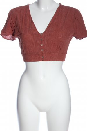 Pull & Bear Cropped Shirt rot Casual-Look