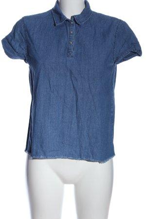 Pull & Bear Camicetta a maniche corte blu stile casual