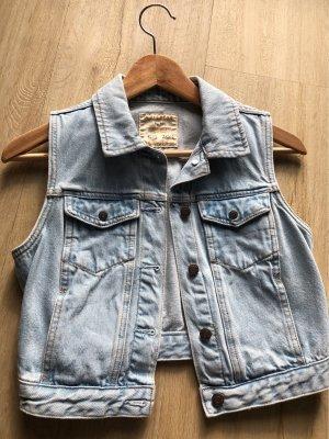 Pull & Bear Kurzarm Weste Jeans